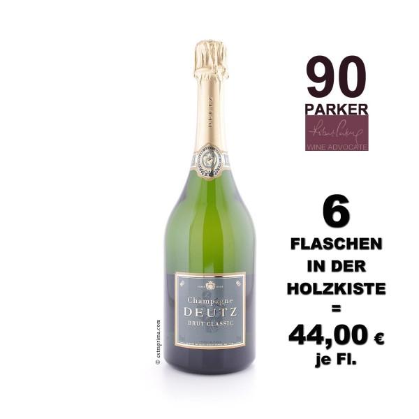 6er Holzkiste | Champagne Brut Classic - Deutz