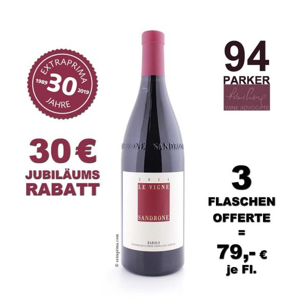 3 Flaschen | 2014 Barolo 'Le Vigne' - Sandrone