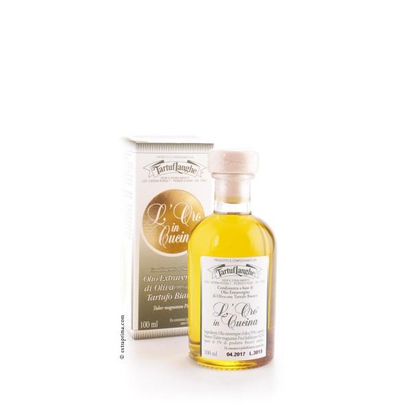 Oro in Cucina - Olivenöl extra mit weissem Trüffel - TartufLanghe 100ml
