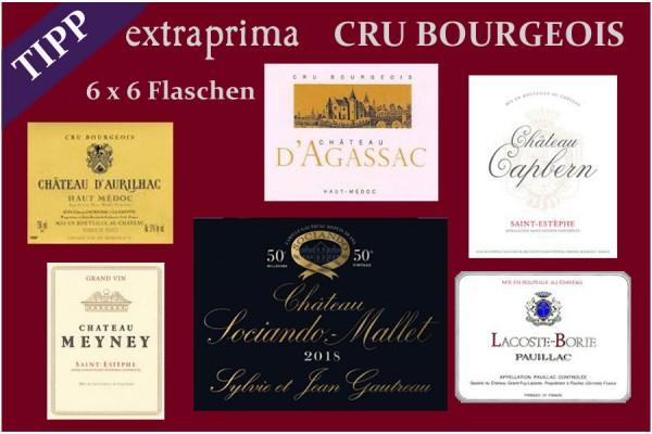 2018 Das Cru Bourgeois-Paket   gesamt 36 Flaschen