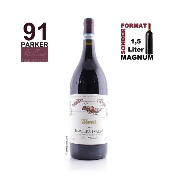2017 Barbera d'Alba Tre Vigne   Magnum 1,5-Ltr.