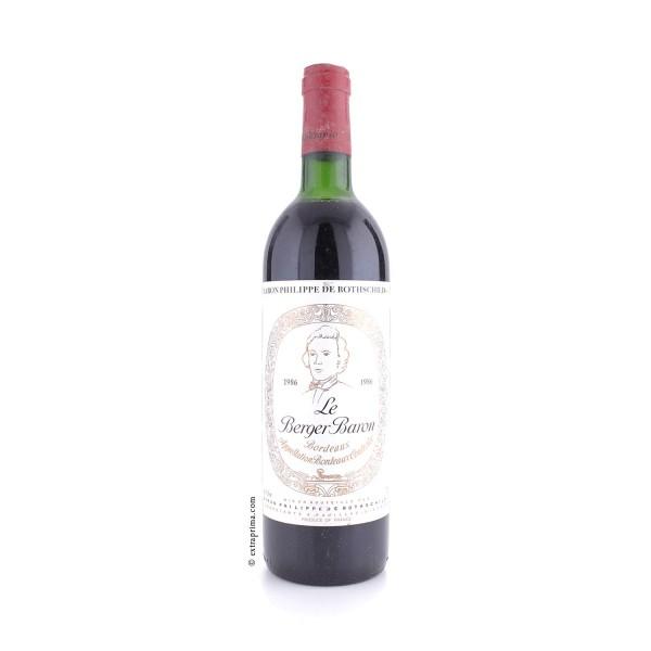 1986 Le Berger Baron (Baron Philippe de Rothschild) - Bordeaux