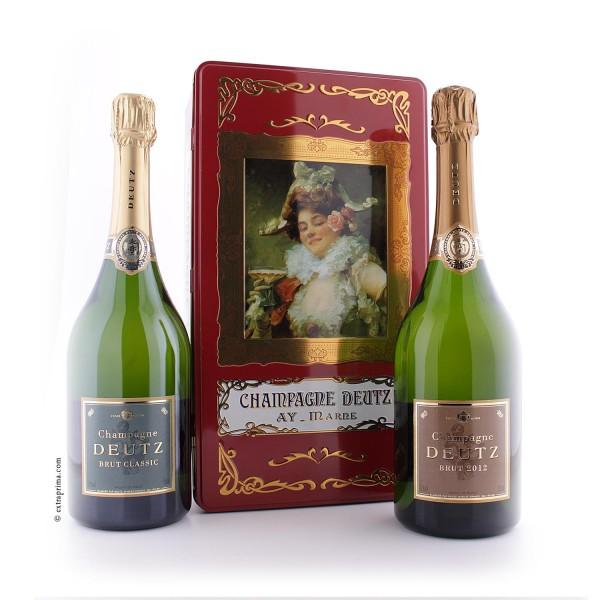 Geschenkbox 'Pierette' Champagne Millésime 2012 und Brut Classic