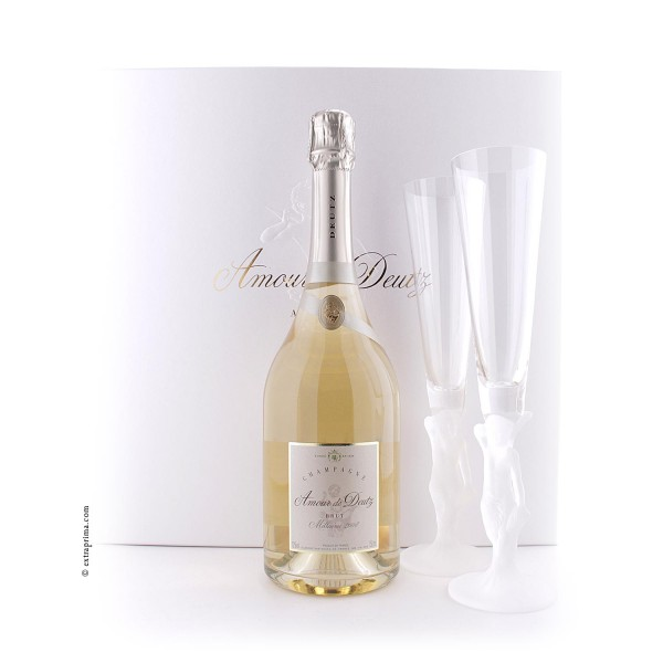 Geschenkbox Champagne Amour de Deutz 2008 mit 2 Gläsern
