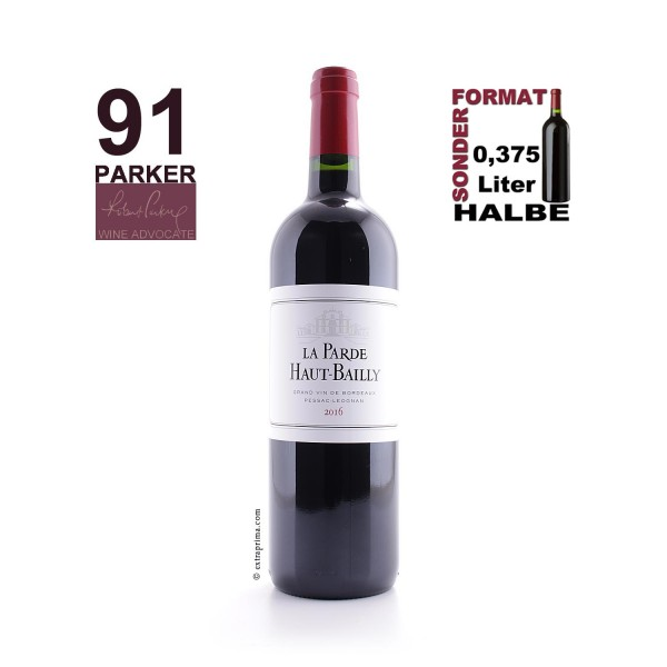 2016 La Parde de Haut-Bailly Péssac-Léognan   Halbe 0,375-Ltr.